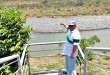 PRIVATE PROPERTY OR SANDBAR? Mayor Oscar Moreno's new accuser, businessman and Balingasag mayoral candidate Reynaldo Zarate, points to a property near the Cagayan River in Balulang which he claims to be his in this undated photo. Officials however say the property is a sandbar. (PHOTO BY NITZ ARANCON)