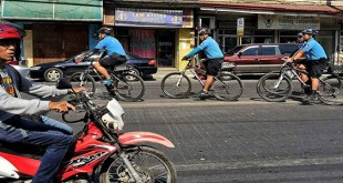 WE ROLL TOGETHER. Members of the Cagayan de Oro City Police Office's two-month old Bike Patrol Unit do the rounds on Don Apolinar Velez St. yesterday morning. (PHOTO BY CONG B. CORRALES)