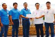 Energy firm STEAG State Power Inc. (SPI) turns-over an additional PhP 160,000 financial aid to the Macajalar Bay Development Alliance (MBDA) for the establishment of a mangrove nursery in El Salvador City. The project aims to produce mangrove propagules for a bay-wide mangrove planting and rehabilitation. Laguindingan Mayor and MBDA Chairman Oliver Ubaub (3rd from left) lauded SPI for its continuing support to MBDA. The donation is part of the proceeds of the recently concluded 3rd Steag Environmental Golf Tournament hosted by the Camp Evangelista Golf Club. Since its launch in 2013, the tournament raised more than P 0.4 million financial aid to support MBDA programs and projects. SPI SportsCom Chairman Conrado Banaag led other SPI officials in a simple turn-over rites at Steag's power plant in Villaueva, Misamis Oriental. advt