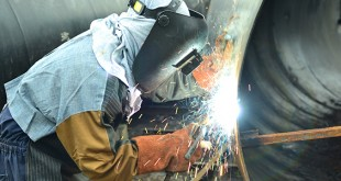 GIRL POWER. The two only women welders show off their unique skills in welding, proving that women can also do what many think only men can do. In an interview, they said that welding is a challenging job that's why they love doing it.