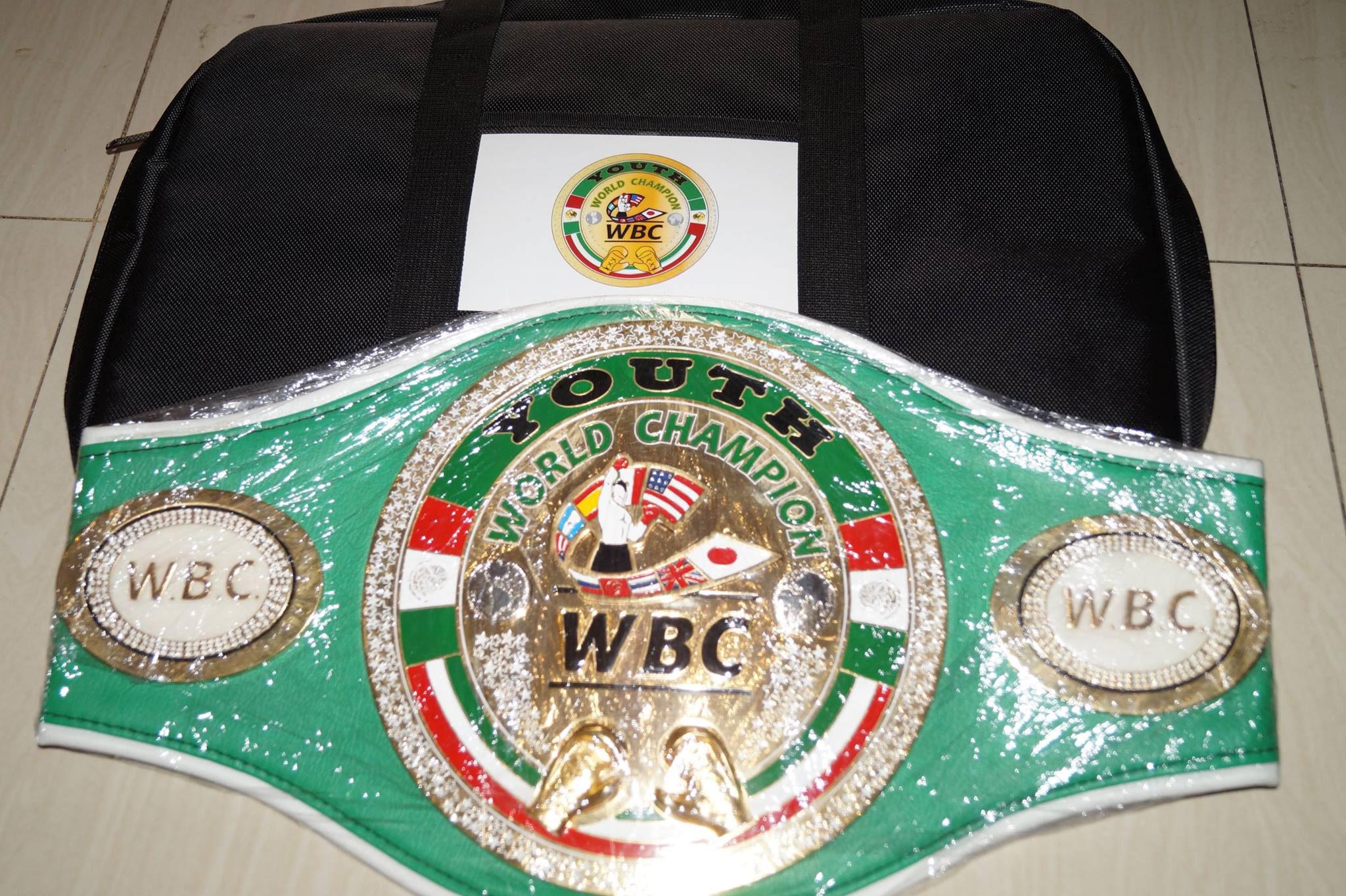 WBC Youth World Minimumweight Championship belt Photo Grab from Facebook Brico Langbay Santig